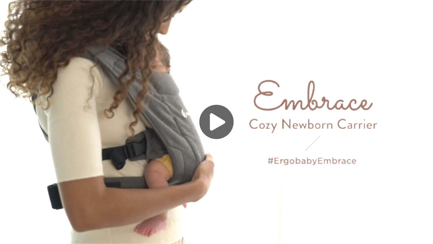 Mom with Baby in Embrace Cozy Newborn Carrier